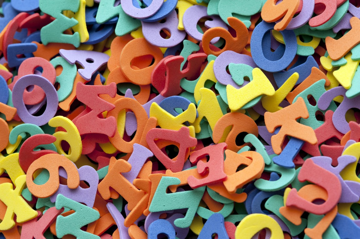 Multicoloured numbers and letters